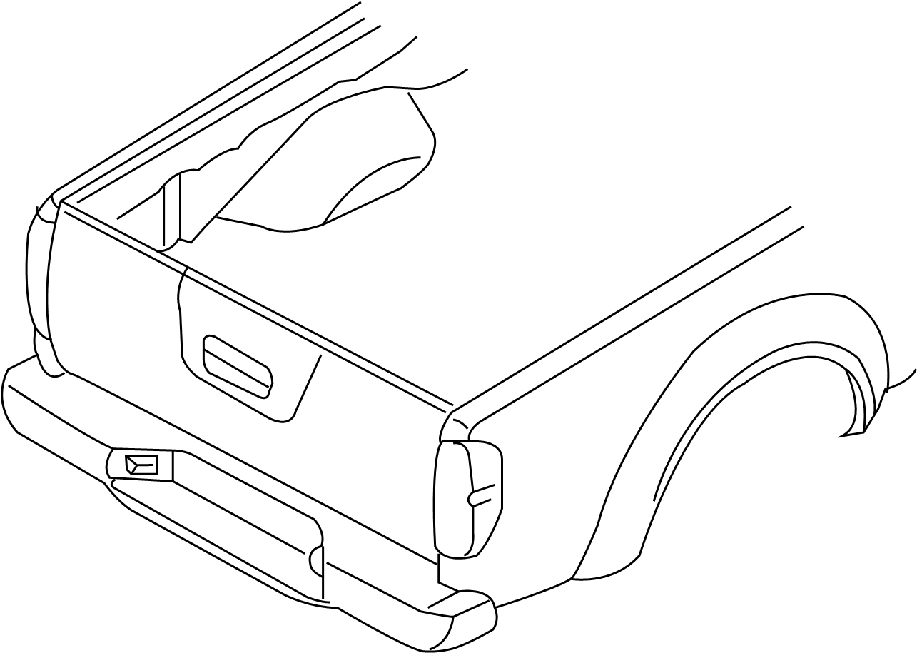 Nissan Frontier Pickup Box Decal 5 Foot Box Rear