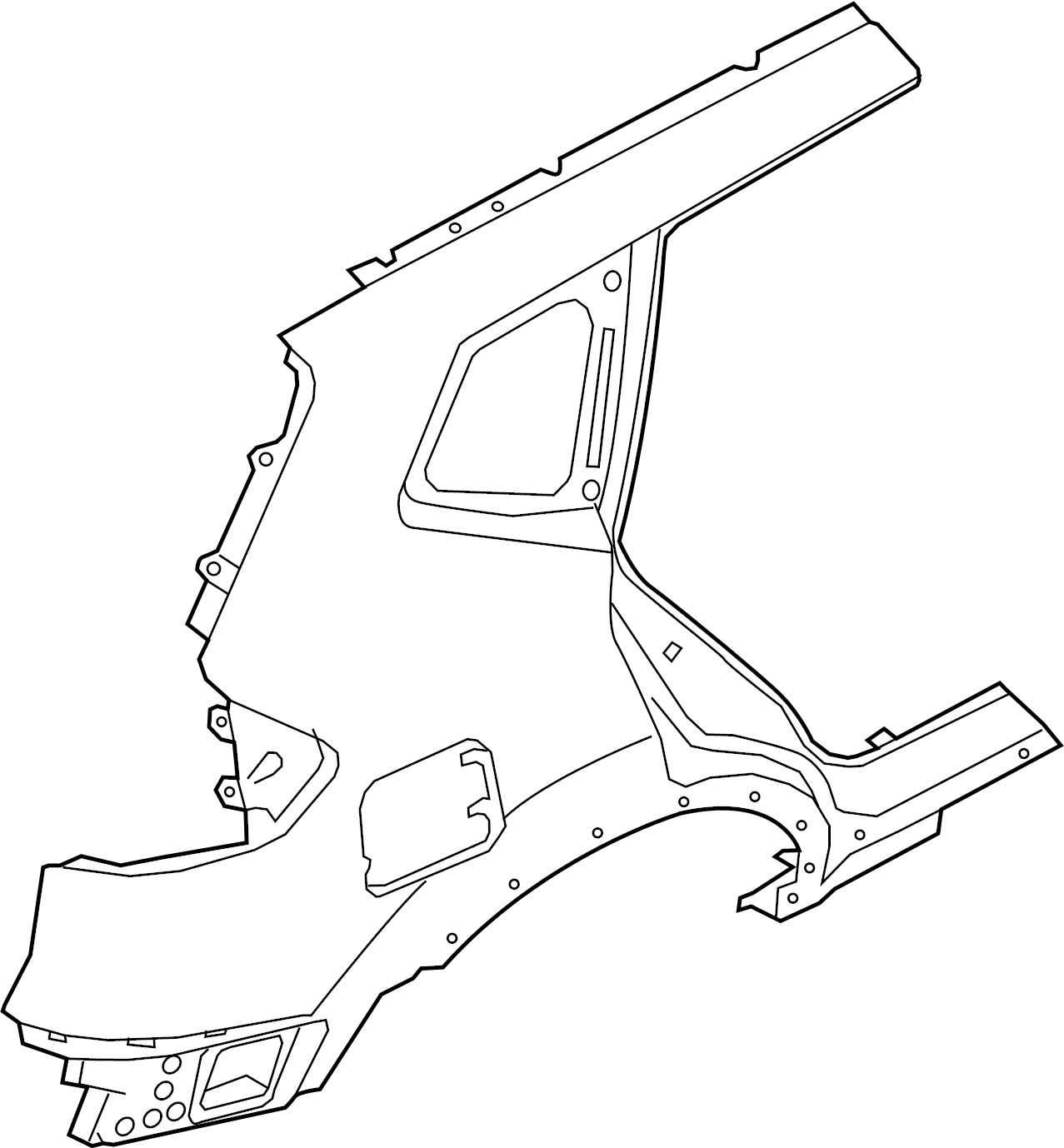 Nissan Rogue Panel Quarter Fender Quarter Panel Piece Rear Right Hand Rh Lower