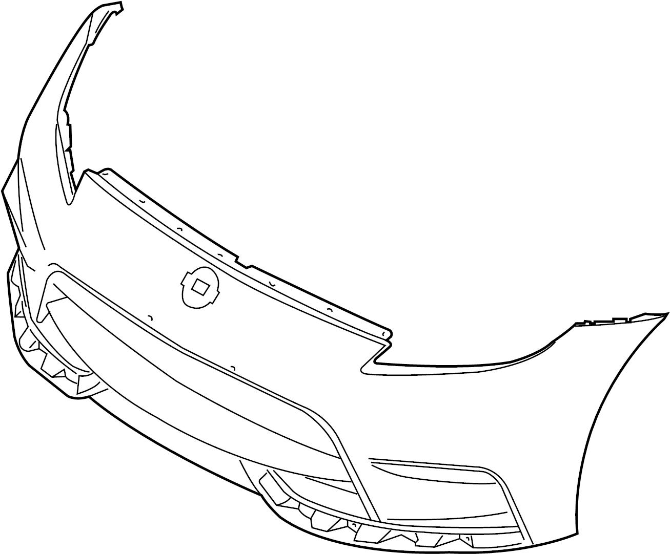 Nissan 370z Bumper Cover Front Standard Version