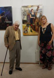 Con el Maestro Riquelo a sus bien llevados 100 años