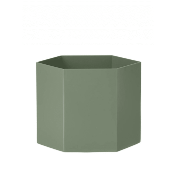 Blumentopf - Hexagon dusty green von Ferm Living