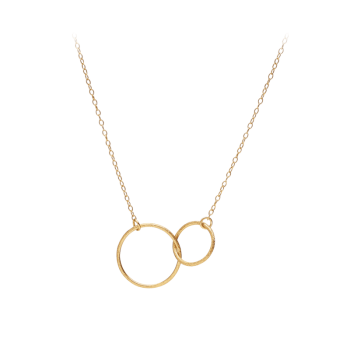 Double Plain Necklace gold von Pernille Corydon