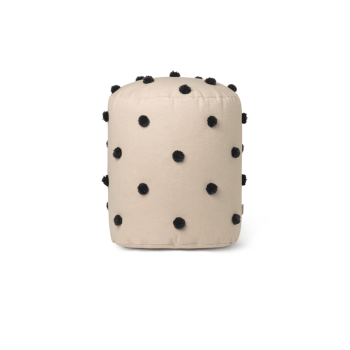 Pouf - Dot Sand/Black von Ferm Living