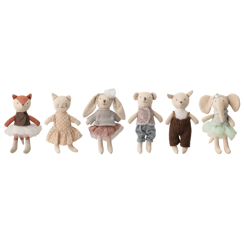 Mini Puppen - Animals 6er Set von Bloomingville