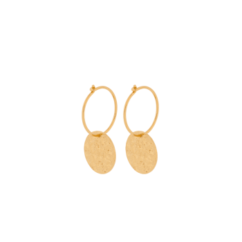 New Moon Earrings gold von Pernille Corydon