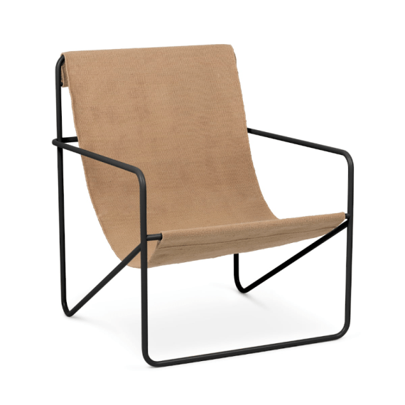 Lounge Chair – Desert black/solid cashmere