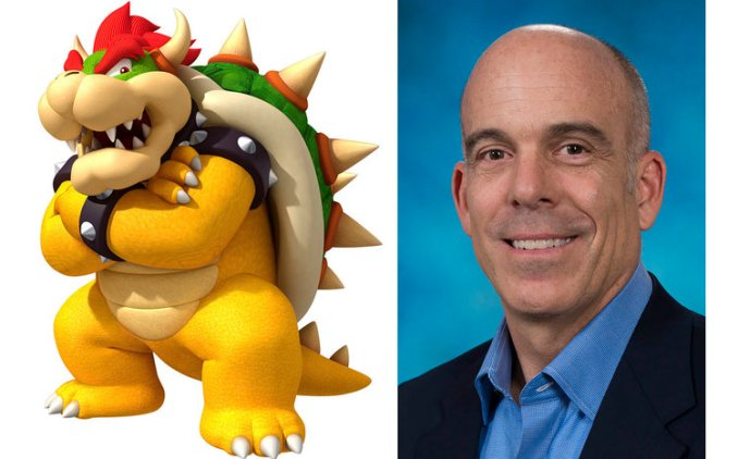 Doug Bowser next to Bowser