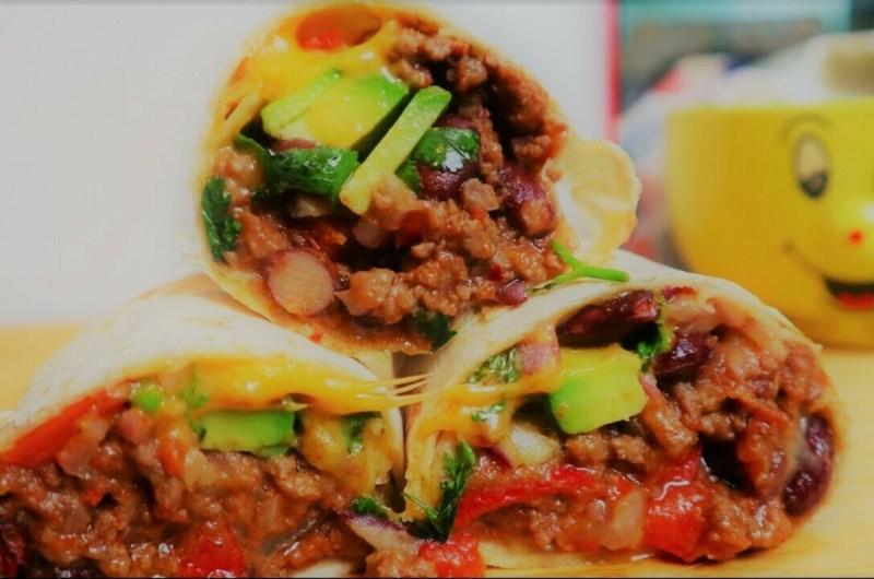 Juicy Beef Mexican Burrito