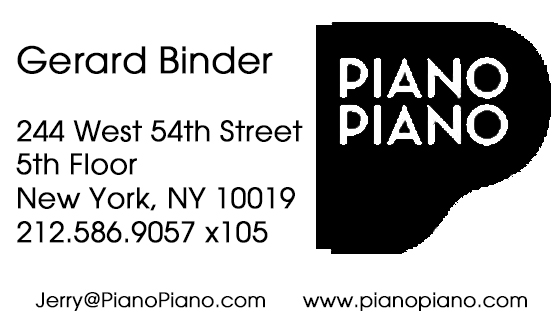 Piano Piano Equipment Rental