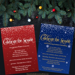 Elegant Corporate Holiday Winter Party Invitations