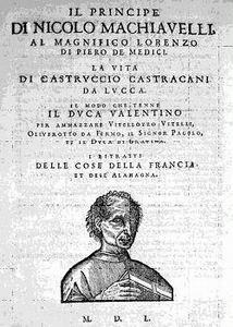 """माक्यावैली की किताब """"द प्रिन्स"""", 1532  में प्रकाशित"""