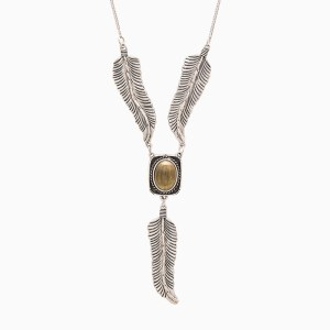 Raven Feather Necklace