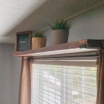 How To Make A Simple And Easy Diy Curtain Rod Shelf Combo