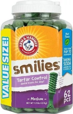 Arm & Hammer for Pets Smilies Tartar Control Dental Treats for Dogs