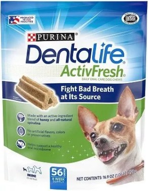 Purina DentaLife Oral Care Small and Toy Breed Mini Adult Dog Chew Treats