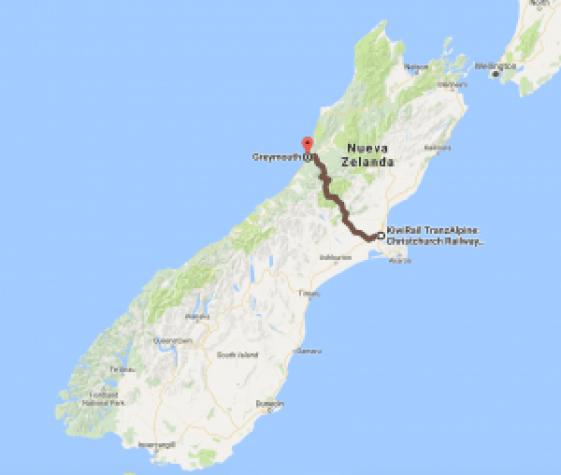 Mapa Kiwirail