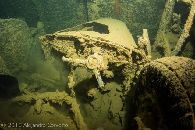 Los restos de un volante