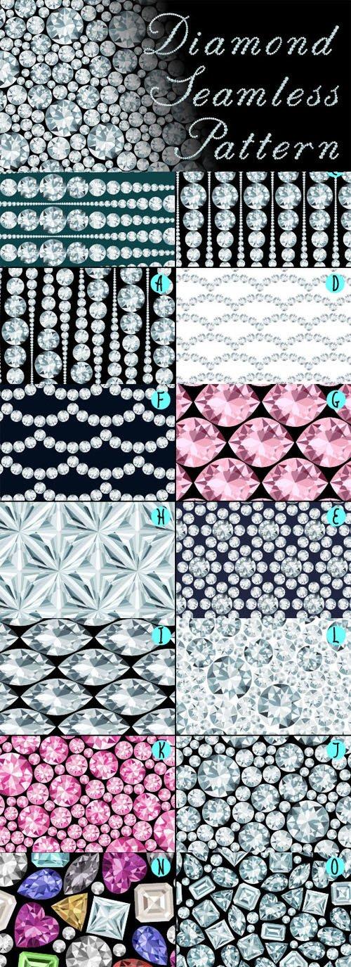 15 Seamless Diamond Patterns - Creativemarket 161167