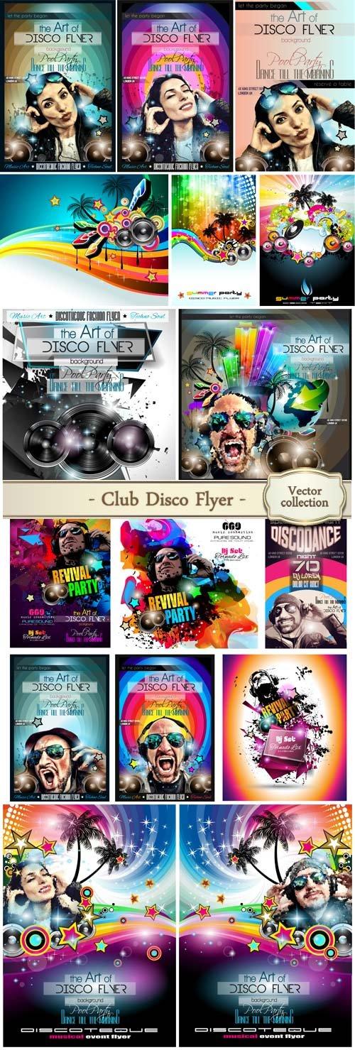 Club disco vector flyer