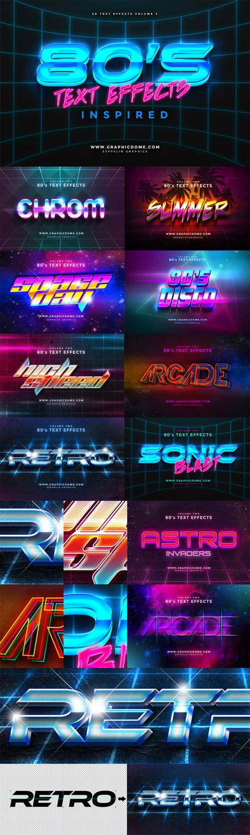 Creativemarket - 80s Text Effects 168080