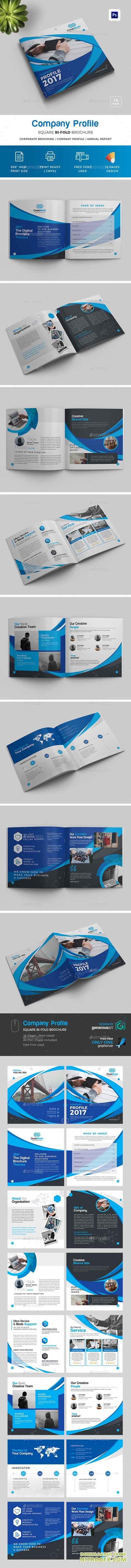 GraphicRiver - Square Bi-Fold Brochure 20688217