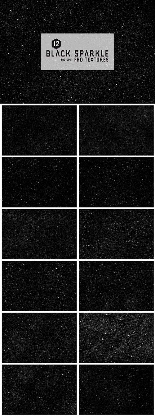 12 Black Sparkles Textures Backgrounds