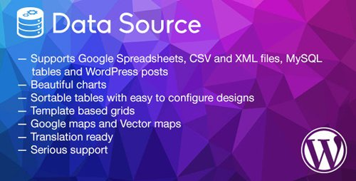 CodeCanyon - Data Source v1.2.3 - charts, tables, maps and data grids - 11621948