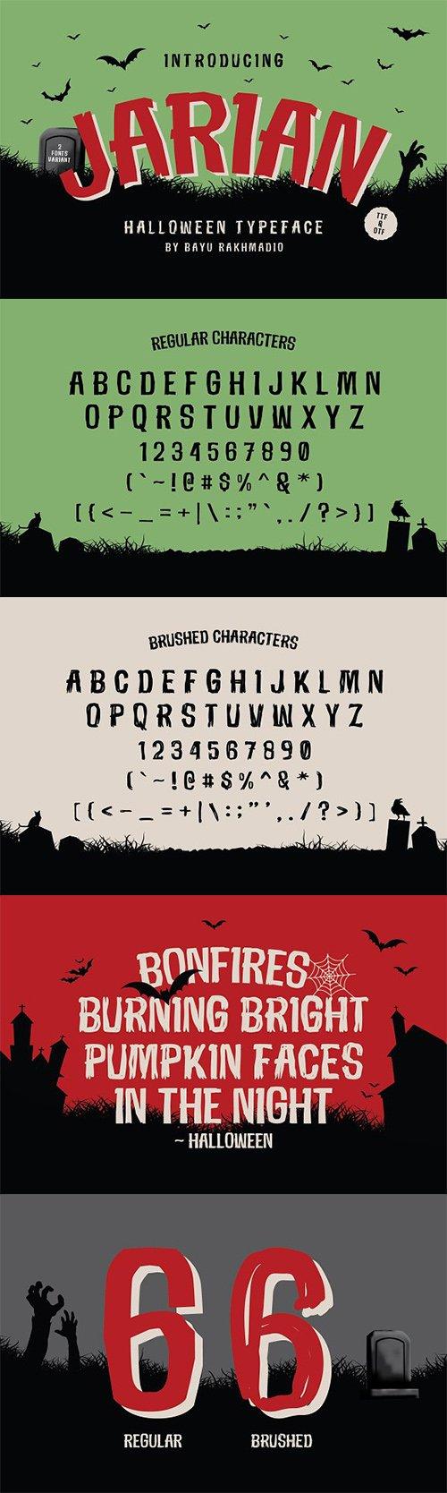JARIAN ; Halloween Typeface 2992623