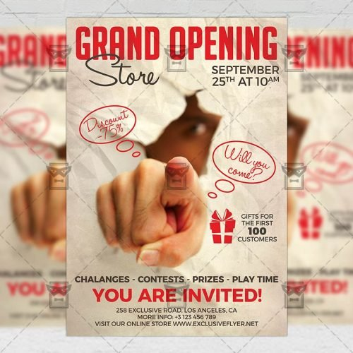 Club A5 Template - Grand Opening Flyer