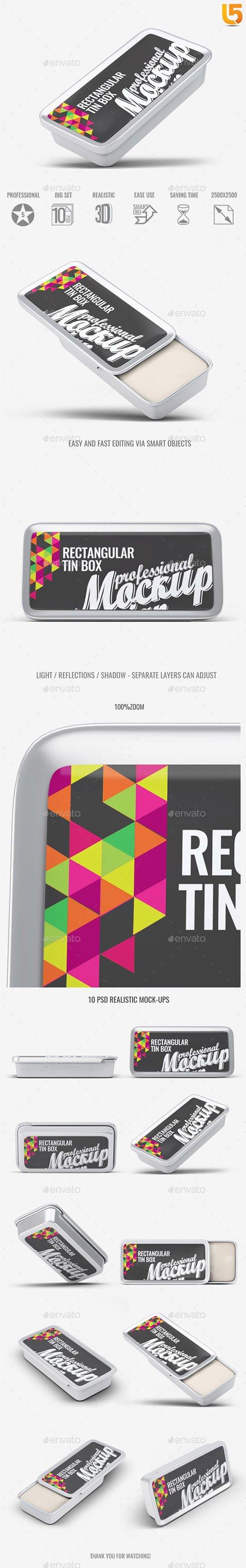 Rectangular Tin Box Mock-Up 22617360