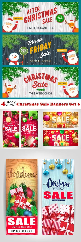 Vectors - Christmas Sale Banners Set 6