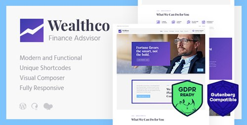 ThemeForest - WealthCo v1.1 - A Fresh Business & Financial Consulting  WordPress Theme - 21978047