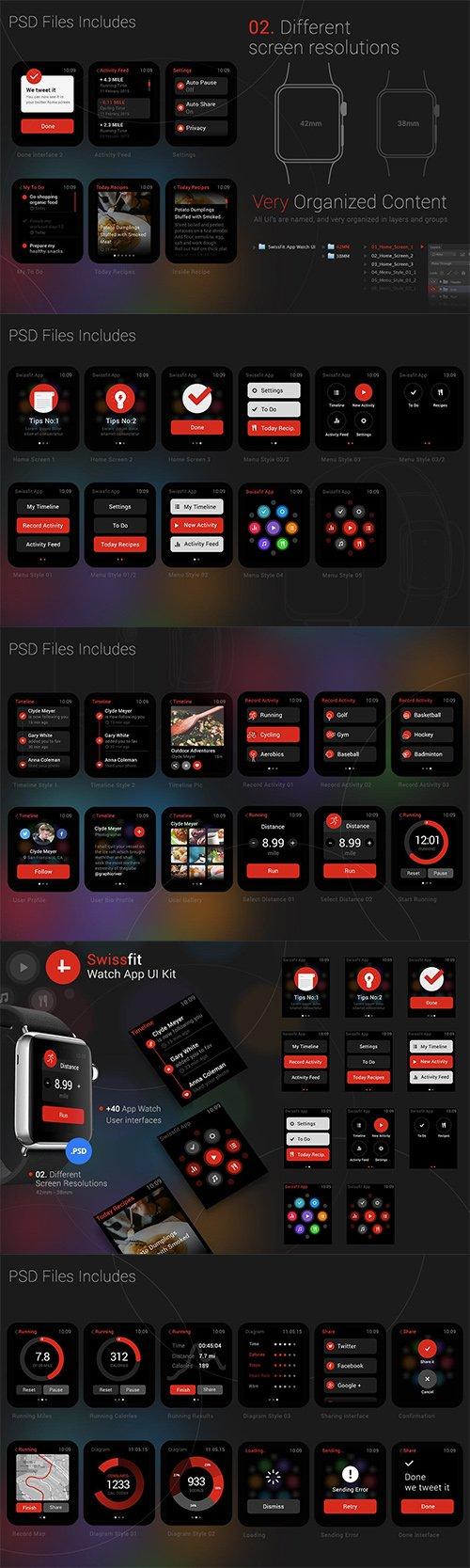 Swissfit Watch App UI Kit