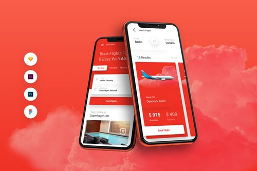 AirKit Flight Travel Booking iOS & Android UI Kit