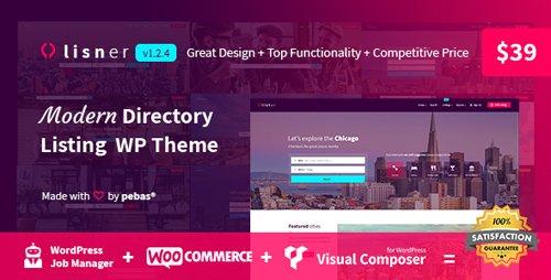 ThemeForest - Lisner v1.2.4 - Modern Directory Listing WordPress Theme - 22656544