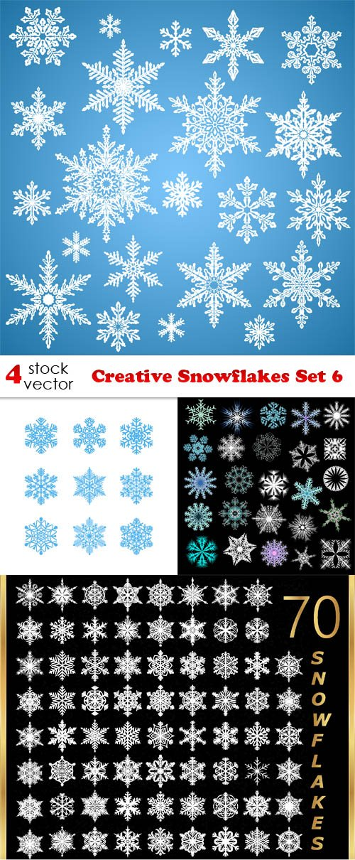 Vectors - Creative Snowflakes Set 6