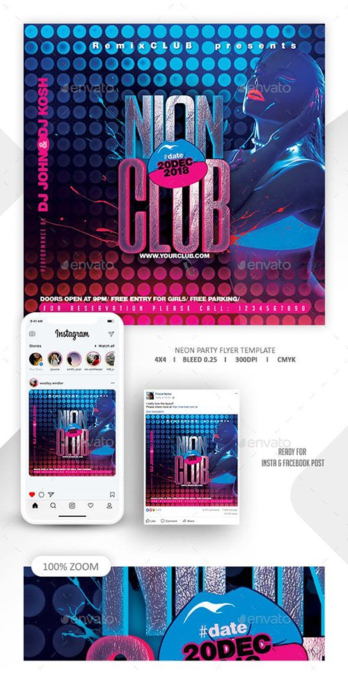 GraphicRiver - Neon Flyer Template 22674331