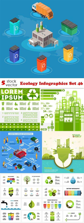 Vectors - Ecology Infographics Set 46