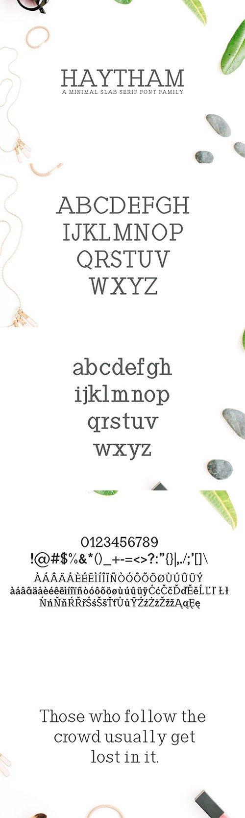 Download Haytham Slab Serif Fonts Packs 1506665 » NitroGFX ...