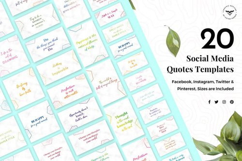 Social Media Quotes Trendy Template - P67QNM