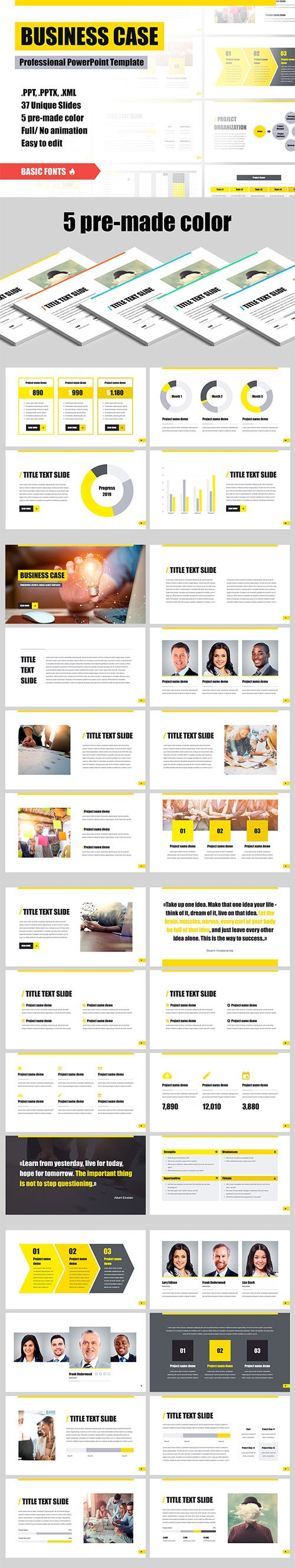 Business Case - Powerpoint Keynote and Google Slides Templates