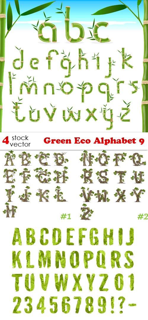 Vectors - Green Eco Alphabet 9