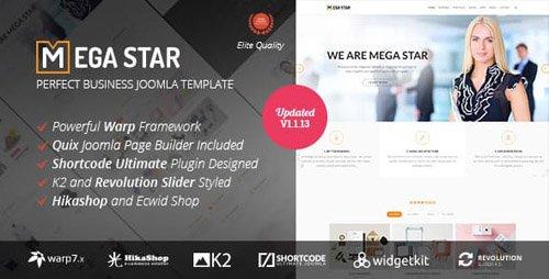 ThemeForest - Megastar v1.1.13 - Business Joomla Template - 16430053