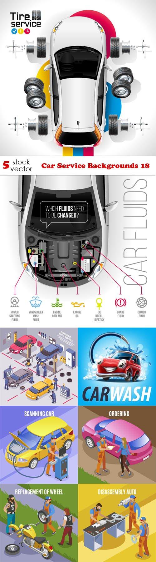 Vectors - Car Service Backgrounds 18