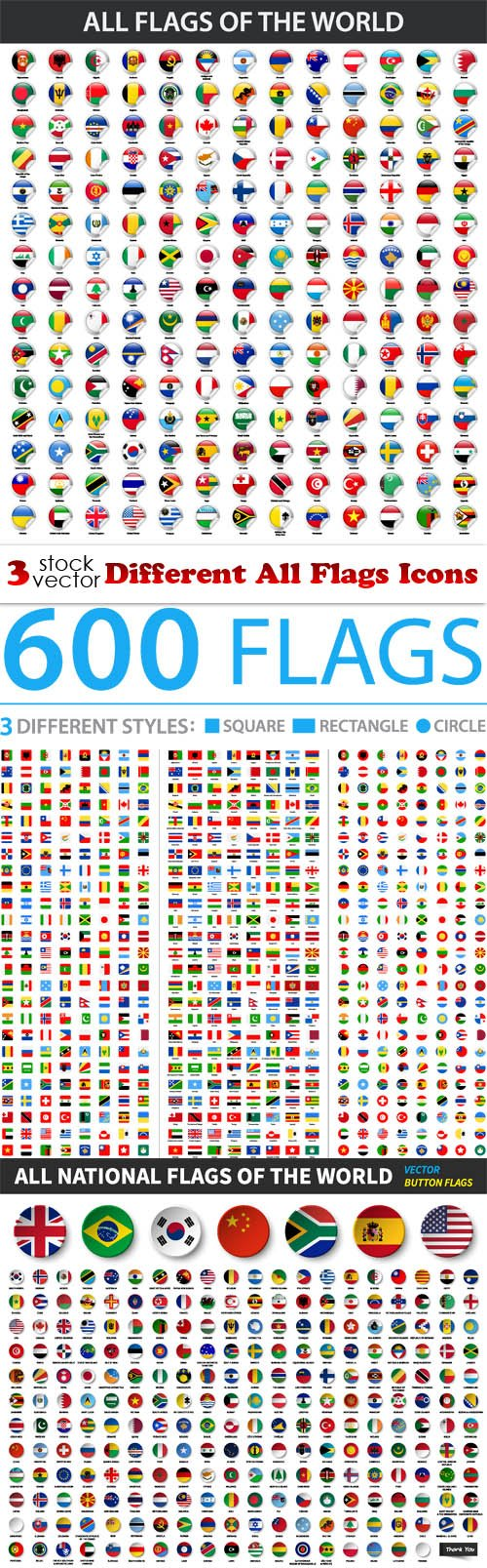 Vectors - Different All Flags Icons