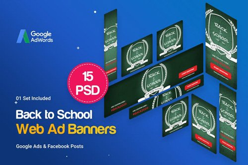 Back to School Banners Ad - USBQ9VG