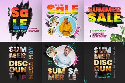 Summer Discount Instagram Post Design Template V-3 PSD