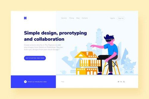 Prototyping Landing Page Illustration