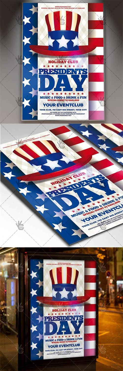 Presidents Day ? American Flyer PSD Template