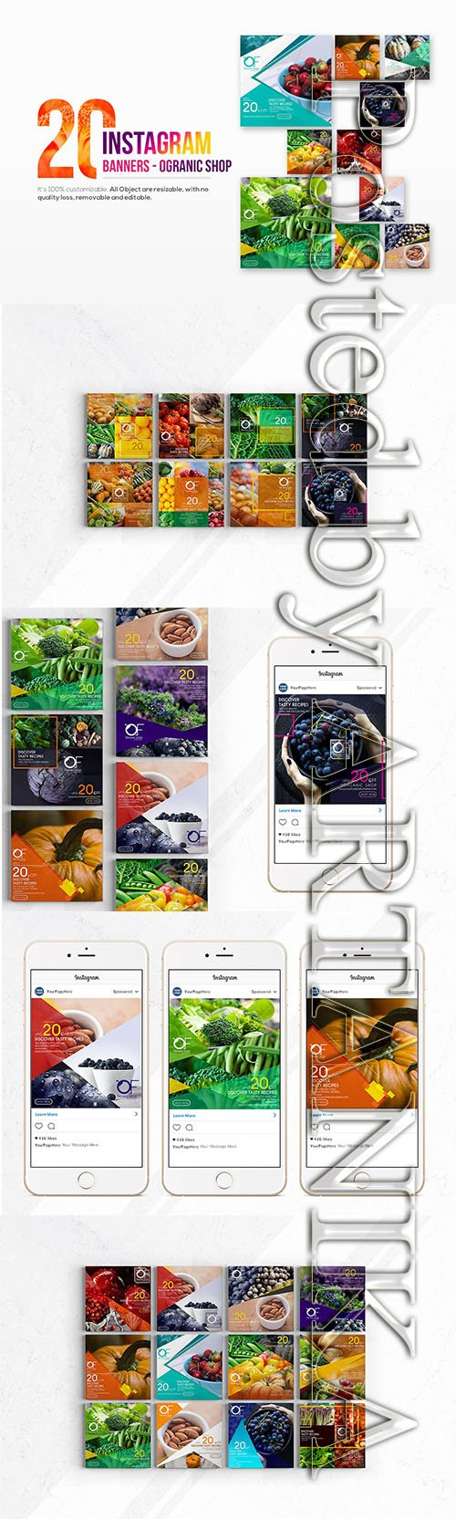 20 Instagram Organic Shop Banners
